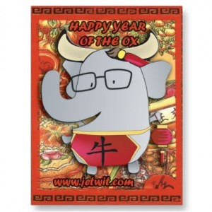 JetWit Year of the Ox Postcard