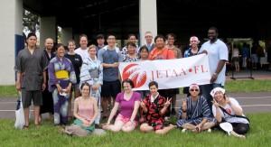 New JETs, JET alumni, and Consul Hayato Nakamura and family at Natsu Matsuri, Tampa, June 2013. (Amanda Bailey)