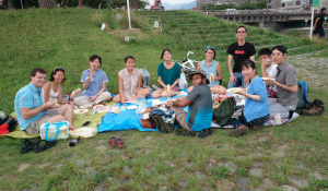 Cross-Cultural Kansai's Summertime Picnic at the Kamogawa river in Kyoto. Celebrating global identities with delicious food, beautiful weather, and amazing friends.