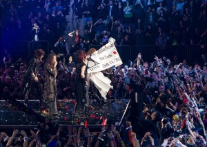 X Japan take a triumphant bow at Madison Square Garden, New York City, Oct. 11, 2014. (Vlad Baranenko)