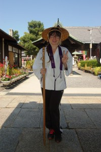 Walking the Shikoku Pilgrimage path in Kagawa. (Courtesy of Julia Inisan)