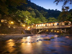 hot spring town in japan